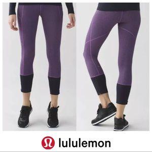 Lululemon Rebel Runner Crop Herringbone Purple 4